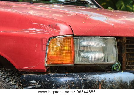 Headlights Of Old Car