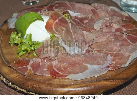 Italian Food: Ham And Mozzarella