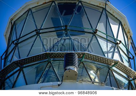 Nugget Point Lighthouse. Closeup View