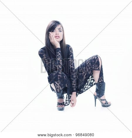 Isolated Sexy Model Sit