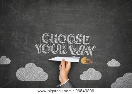 Choose your way concept