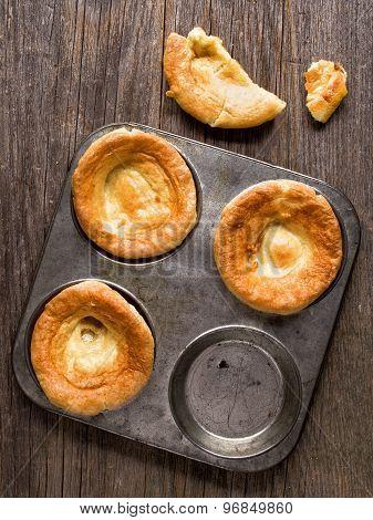 Rustic Golden British Yorkshire Pudding