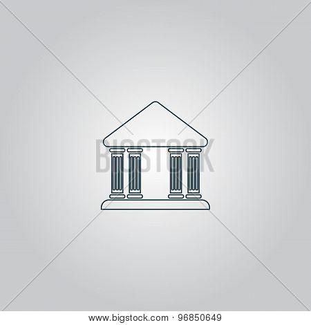 court building vector icon
