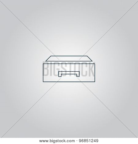drawer vector icon illustration