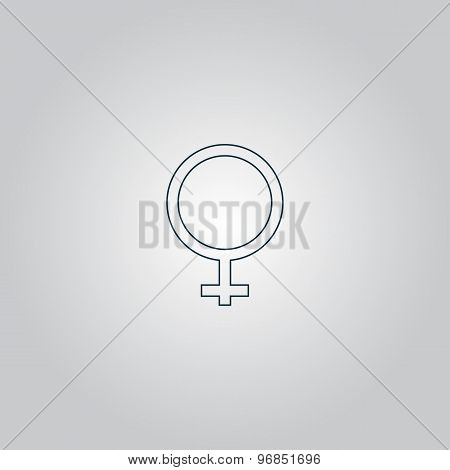 female sign icon.