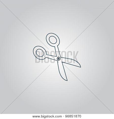 Retro scissors icon