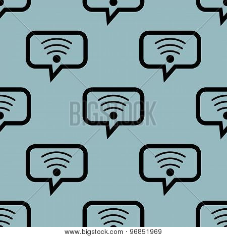 Pale blue Wi-Fi message pattern