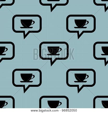 Pale blue cup message pattern