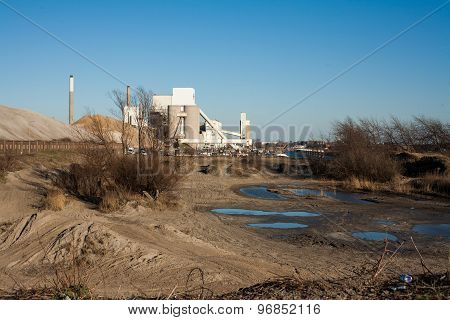 Barren industrial area