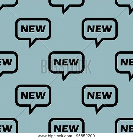 Pale blue NEW message pattern