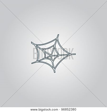 Spiderweb icon. Web symbol.