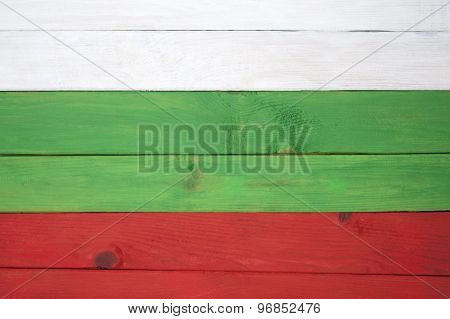 Flag Of Bulgaria Colored Boards..
