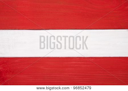 Flag Of Austria Colored Boards..