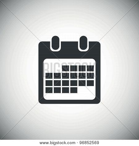 Black month calendar icon 2