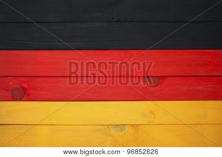 Flag Of Germany Of Colored Boards..