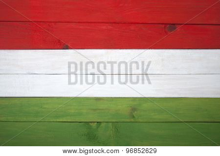 Flag Of Hungary Of Colored Boards..
