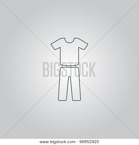 uniform - pants and t-shirt
