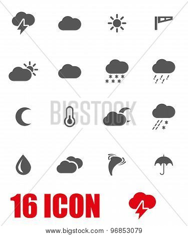 Vector Grey Weather Icon Set