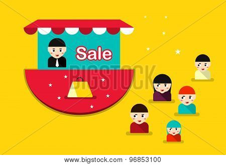 The Promotion Business. The Final End Product Prices. Vector Illustration