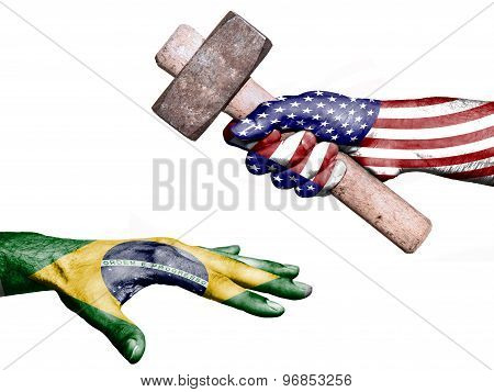 United States Hitting Brazil With A Heavy Hammer