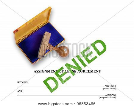 Assignment Of Lease - Denied