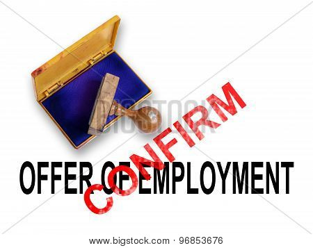 Offer Of Employment - Confirm