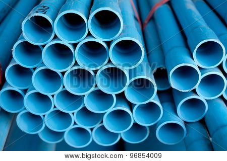Arrange Blue Pipe In Stock
