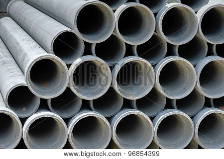 Arrange Cement Pipe In Stock