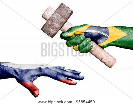 Brazil Hitting Russia With A Heavy Hammer
