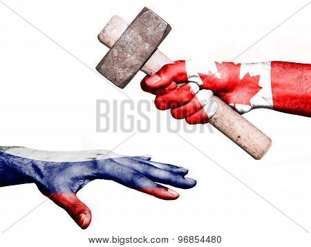 Canada Hitting Russia With A Heavy Hammer