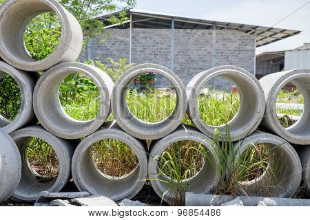 Arrange Of Cement Pipe