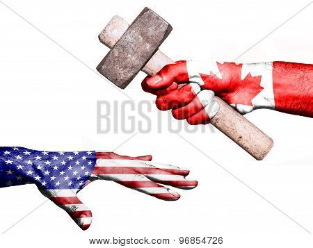 Canada Hitting United States With A Heavy Hammer