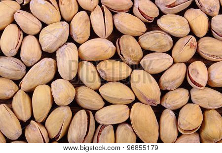 Pistachio Nuts As Background, Healthy Eating