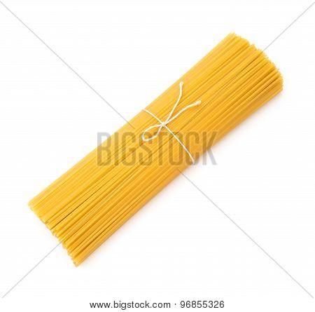 Raw Italian Pasta On White Background