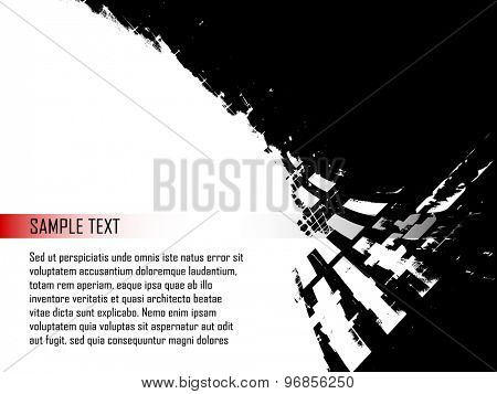 Grunge abstract background design element