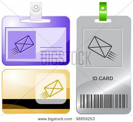 send mail. Vector id cards.