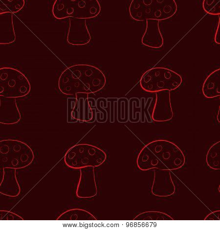 Seamless contours of fly agarics