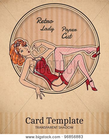Pin-up Retro Card
