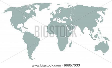 Illustration Graphic Vector World Map Grey