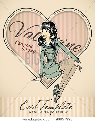 Valentine Retro Card