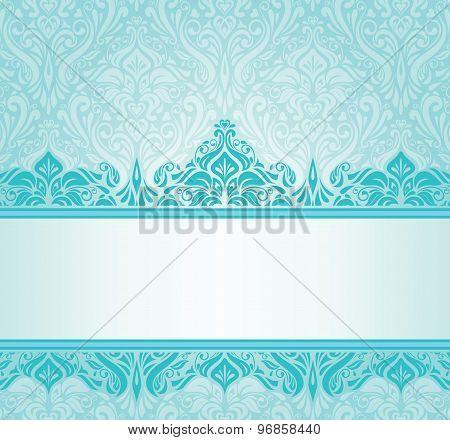 Turquoise vintage invitation design