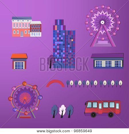 01 City buildings set