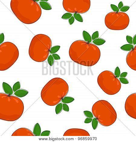 Seamless Pattern Of  Mandarin