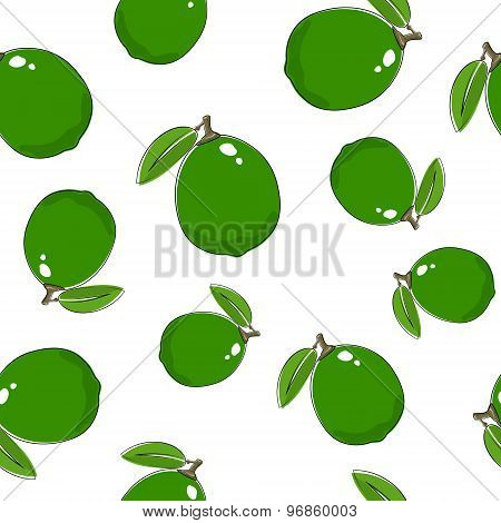 Seamless Pattern Of  Lime
