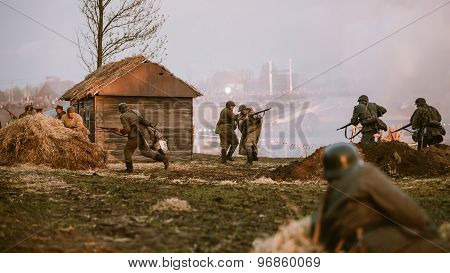 Reconstruction of Battle during events dedicated to 70th anniver
