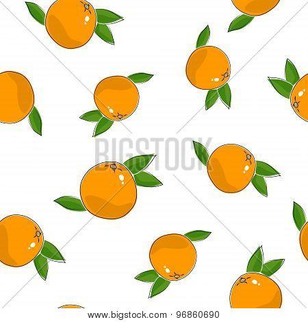 Seamless Pattern Of  Grapefruit