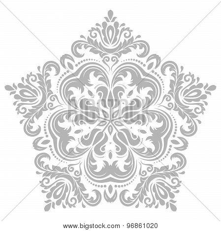 Damask Vector Orient Pattern