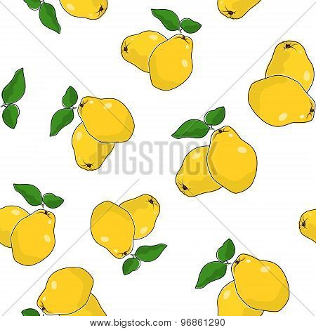 Seamless Pattern Of  Quince