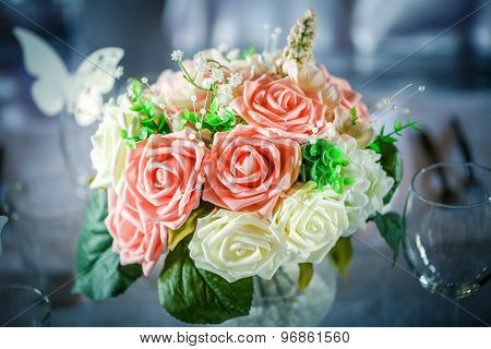 Just married bouquet
