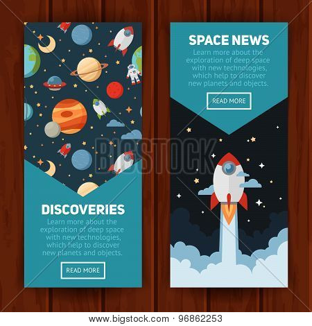 Space Theme Banners And Cards